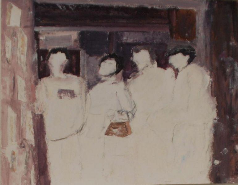 In het oorlogsmuseum, 2014, 40x50, op papier