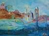Op de uitkijk, acryl, 2011