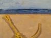 Schilderijtje 20x20, acryl met gejut onderwerp