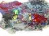 abstract met kranten en verf
