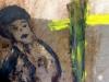 afdruk op doek en geschilderd, 2014, klein formaat