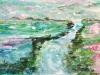 Rivier door landschap, 10 x 15